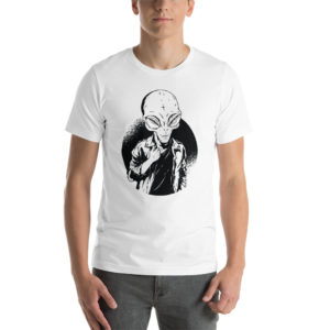 T-shirt Black&White alien